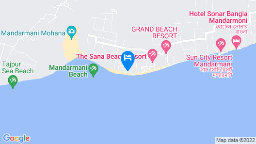 Mohana  Beach Resort Map