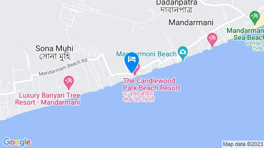 Arya Beach Resort Map