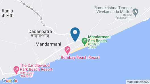 Kings Crown Resort - Mandarmani Map