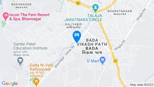 VITS Aradhana Auberge Map