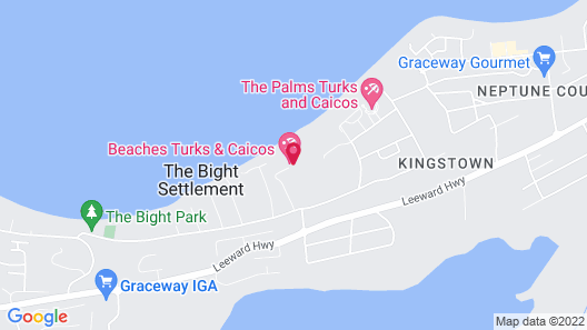 Beaches Turks & Caicos - ALL INCLUSIVE Map