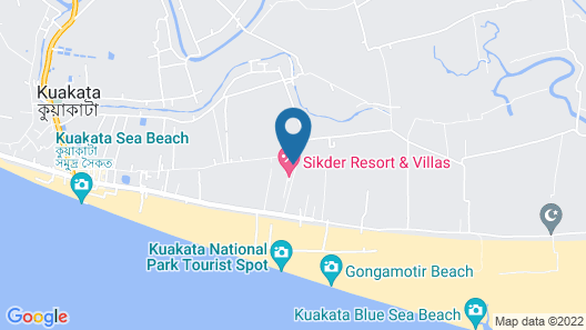 Sikder Hotel and Villas Map