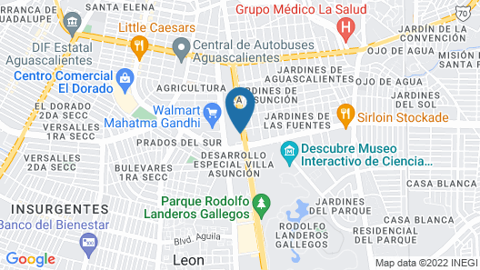 Fiesta Inn Aguascalientes Patio Map