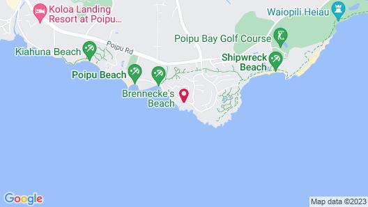 Castle Poipu Shores , a Condominium Resort Map
