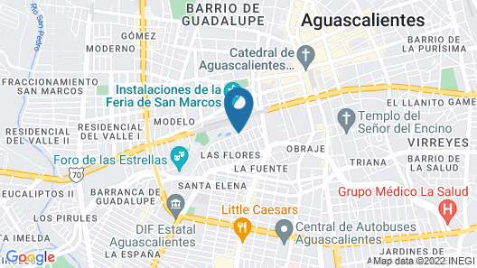 One Aguascalientes San Marcos Map