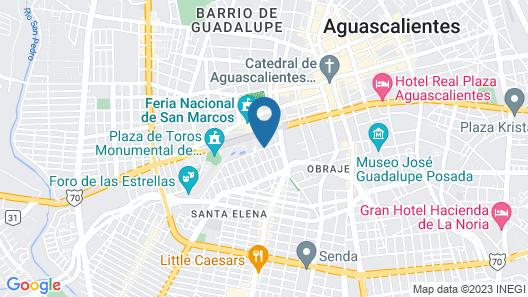 Fiesta Americana Aguascalientes Map