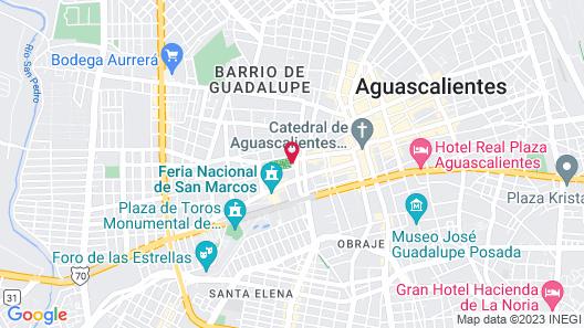 Hotel Boutique Casa del Jardín Aguascalientes Map
