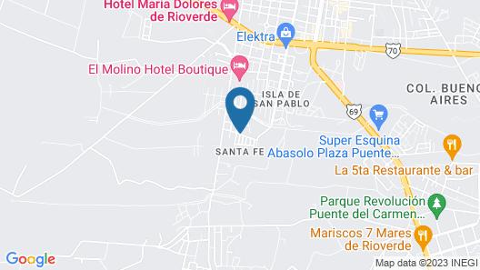 Casa Los Sauces Map