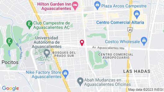 Hotel Villas del Bosque Map