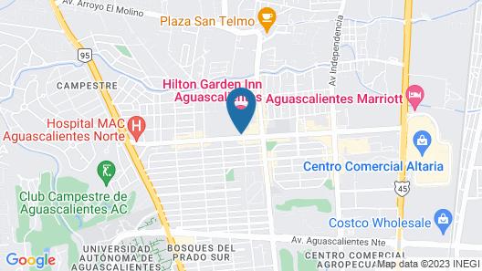 Hilton Garden Inn Aguascalientes Map