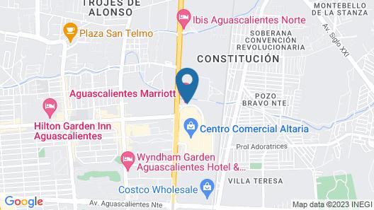 Aguascalientes Marriott Hotel Map