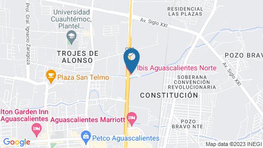 ibis budget Aguascalientes Norte Map