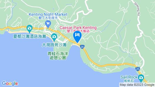 Caesar Park Kenting Map
