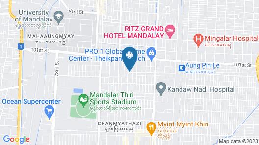 Hotel Magic Mandalay Map