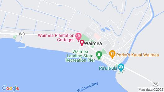 Waimea Plantation Cottages, a Coast Resort Map