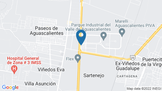 Mision Express Aguascalientes Zona Norte Map