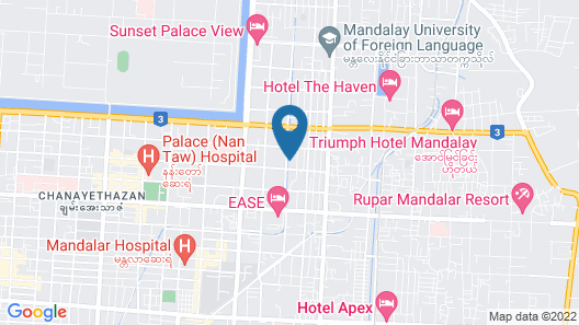 Hotel Homey Mandalay Map