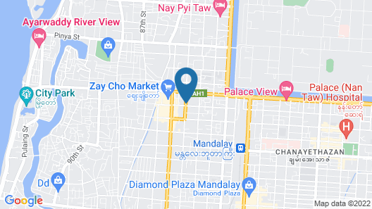 The Link 83 Mandalay Boutique Hotel Map
