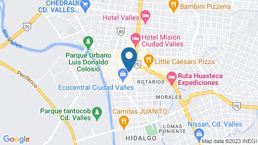 Hotel Casa Rosada Map