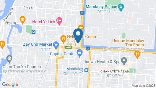 Hotel Sunny Mandalay Map