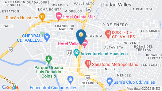 Hotel Valles Map