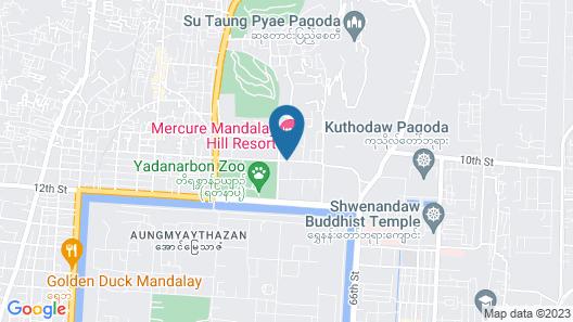 Mercure Mandalay Hill Resort Map
