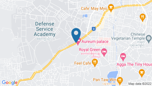 Aureum Palace Hotel & Resort Pyin Oo Lwin Map