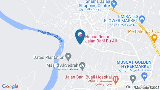 Hanaa Resort - Jalan Bani Bu Ali Map