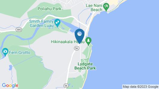 Hilton Garden Inn Kauai Wailua Bay Map