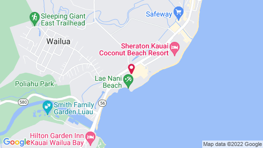 Kauai Shores Hotel Map