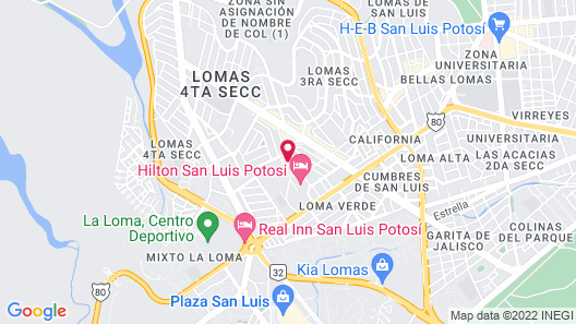 Hilton Tower San Luis Potosi Map