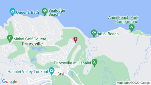 The Westin Princeville Ocean Resort Villas Map