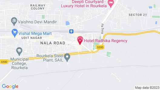 Hotel Radhika Regency Map