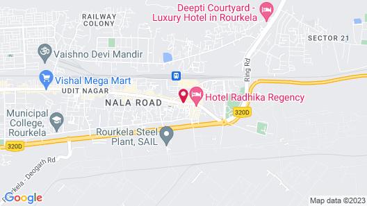Hotel Jindal Regency Map