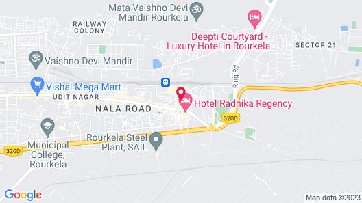 Hotel Aastha Map