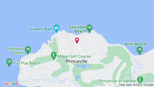 The Cliffs at Princeville Map
