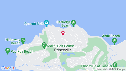 Oceanfront Realty - The Cliffs at Princeville Map