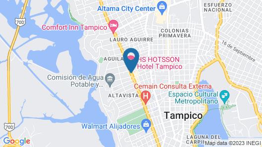 Hampton Inn By Hilton Tampico Zona Dorada Map