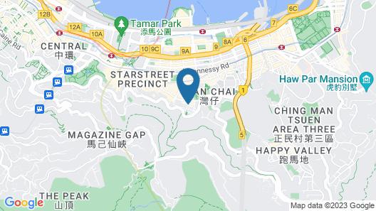 Eaton Residences, Wan Chai Gap Road Map