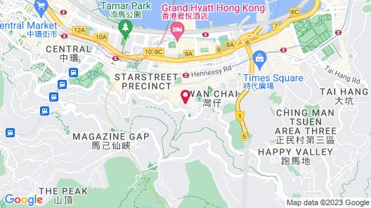 Hotel Indigo Hong Kong Island Map