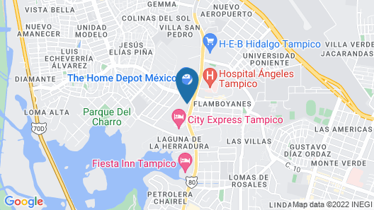 Hotel Posada de Tampico Map