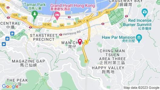 Cosmo Hotel Hong Kong Map