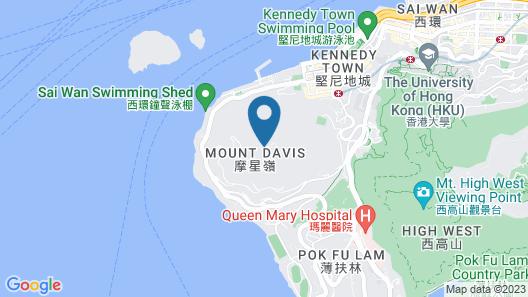 (Hong Kong Island) YHA Jockey Club Mt. Davis Youth Hostel Map
