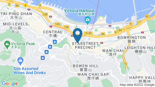 JW Marriott Hotel Hong Kong Map