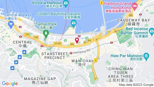 The St. Regis Hong Kong Map