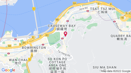 L' hotel Causeway Bay Harbour View Map