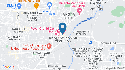 Royal Orchid Central, Vadodara Map