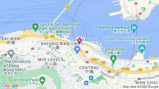 Four Seasons Hotel Hong Kong Map