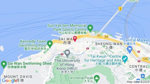 Best Western Plus Hotel Hong Kong Map