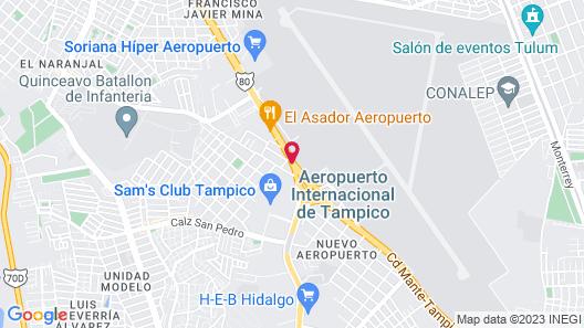 Hampton Inn by Hilton Tampico Map